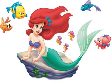 Ariel-fish-friends