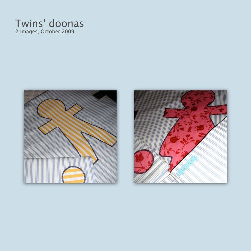 Twins' doonas